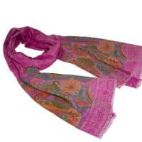Floral Pink Cashmere Pashmina Shaw