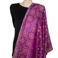Blended Purple Pashmina