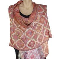 Multi Coloured Pashmina Shawl Stole