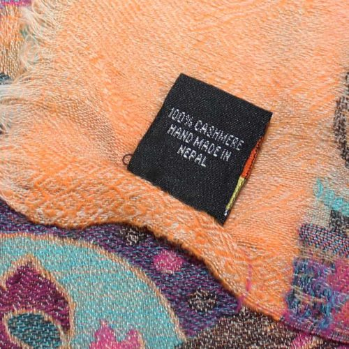 Orange Pure Cashmere Pashmina