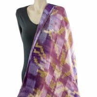 Pink Purple Silk Shawl Scarf