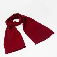 Wine Red Pure Cashmere Scarf