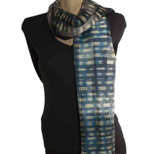 Blue Black Silk Shawl Scar