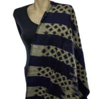 navy blue silk shawl scarf