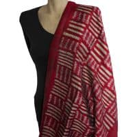 Mudmee Red Silk Scarf Shawl